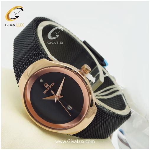 ساعت زنانه نوی فورس مشکی مدل nf5004L
