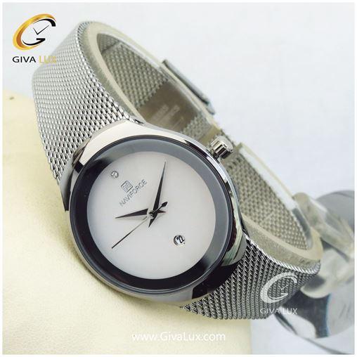 ساعت زنانه نوی فورس نقره ای مدل nf5004L