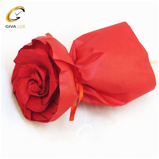 گل کاغذی قرمز رنگ 12 سانتی متری