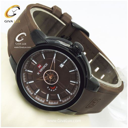 ساعت مردانه نوی فورس قهوه ای مدل NF9107M