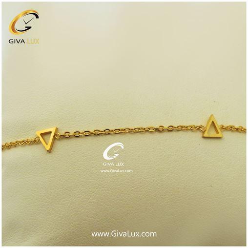 پابند زنانه رنگ طلایی طرح مثلث